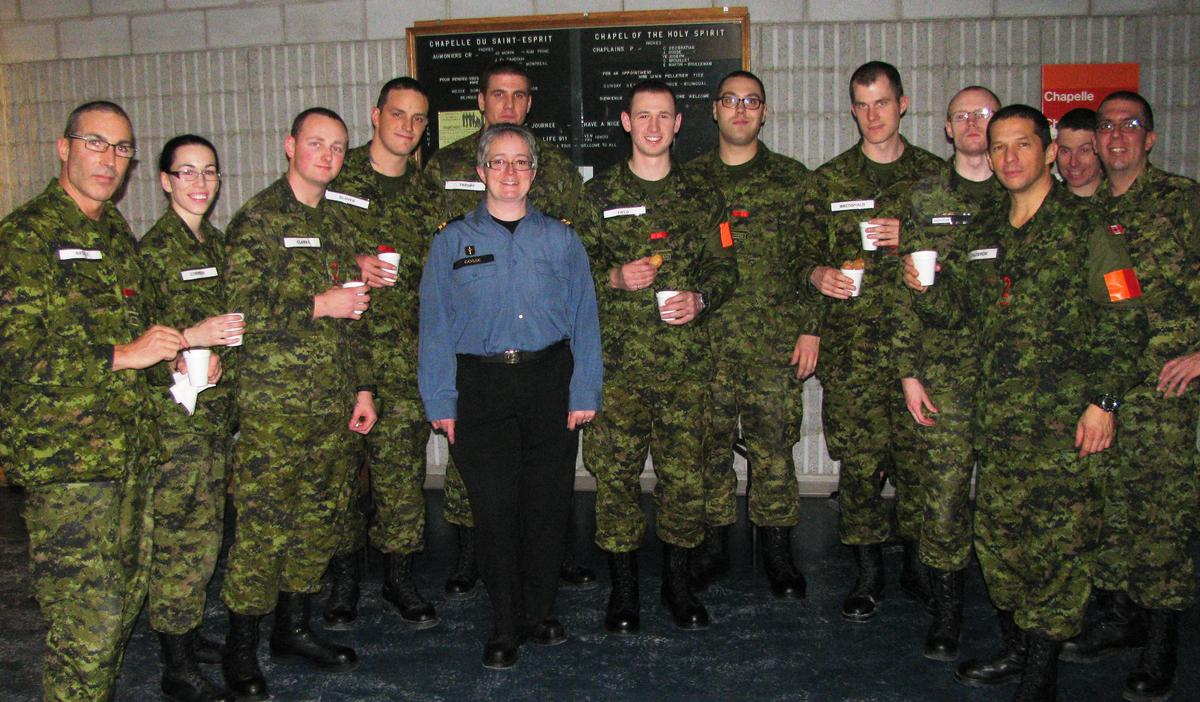 Padre Gosse with recruits at Life 911