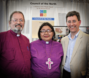 Bishop's Mark MacDonald, Lydia Mamakwa & Stephen Andrews