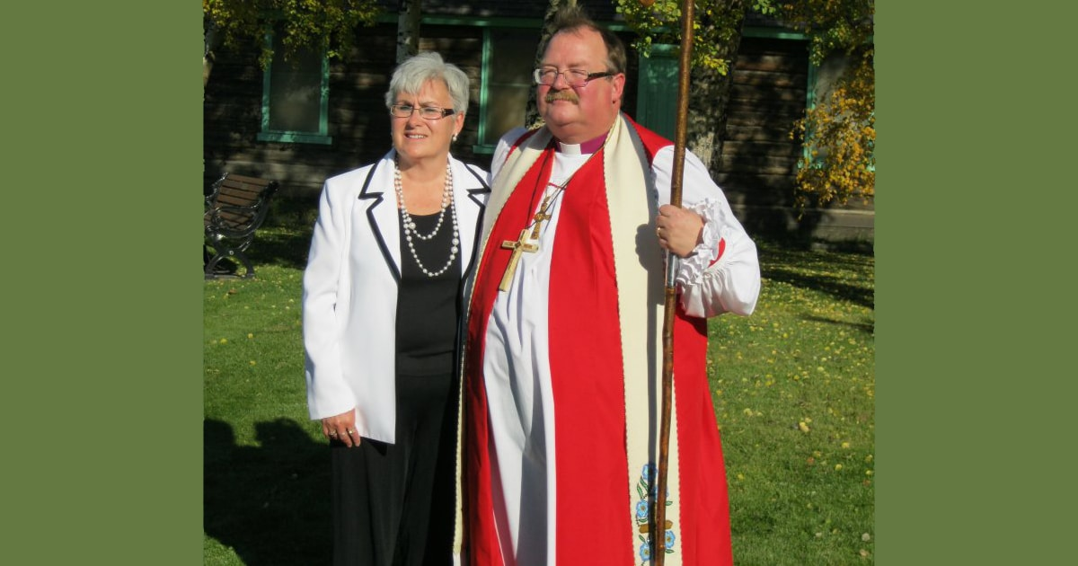 Bishop Larry Robertson and his wife Sheila—seen here in 2010 at his installation as bishop of the diocese of Yukon —will soon be moving to a parish within the diocese where the bishop will double as parish priest. Submitted photo