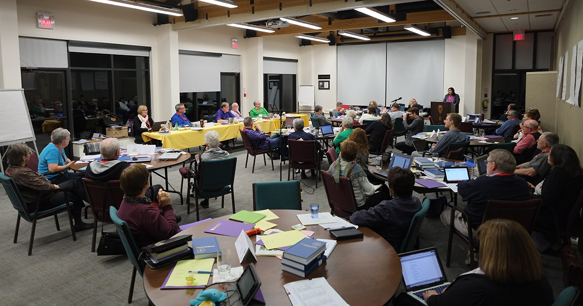 Members of the Council of General Synod (CoGS) meet in November 2014. A special meeting of CoGS to receive the report from the Commission on the Marriage Canon will take place this week in Toronto on Sept. 22-23.