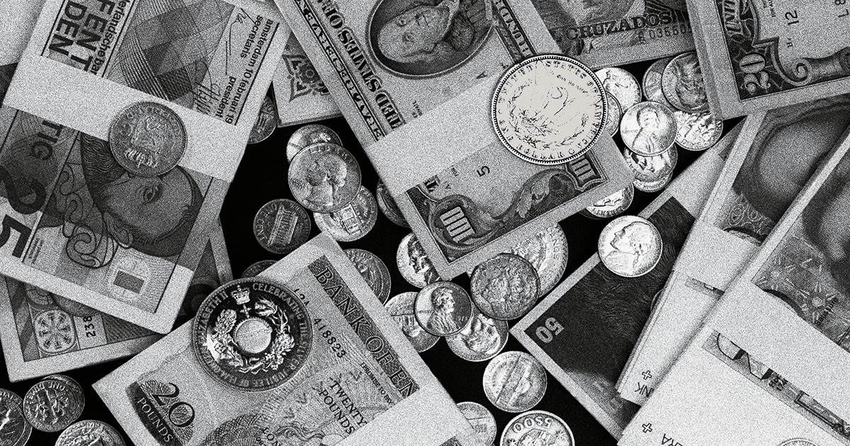 Money represented in the form of various national currencies. Photo by Sérgio Valle Duarte (own work) [CC BY 3.0 (http://creativecommons.org/licenses/by/3.0)], via Wikimedia Commons