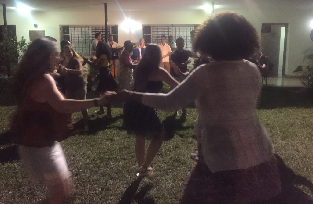 Dancing at the Matanzas Retreat Centre after the celebratory feast.