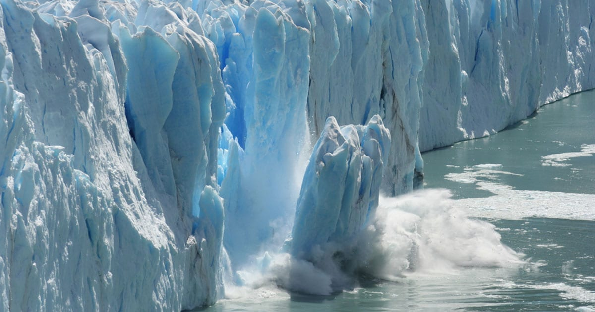 Melting glaciers are one of the most visible effects of climate change. Photo: Shutterstock