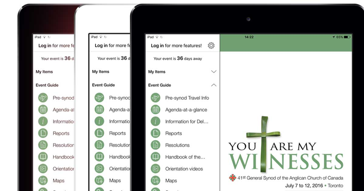 The General Synod 2016 app is now available for tablets, mobile phones, and through the web for desktop.