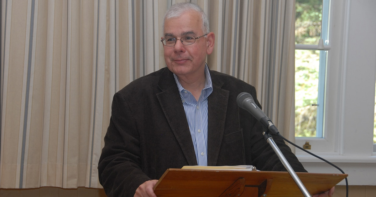 The Rev. Dr. Gary Nicolosi gives a lecture in Quebec on congregational development. Submitted photo