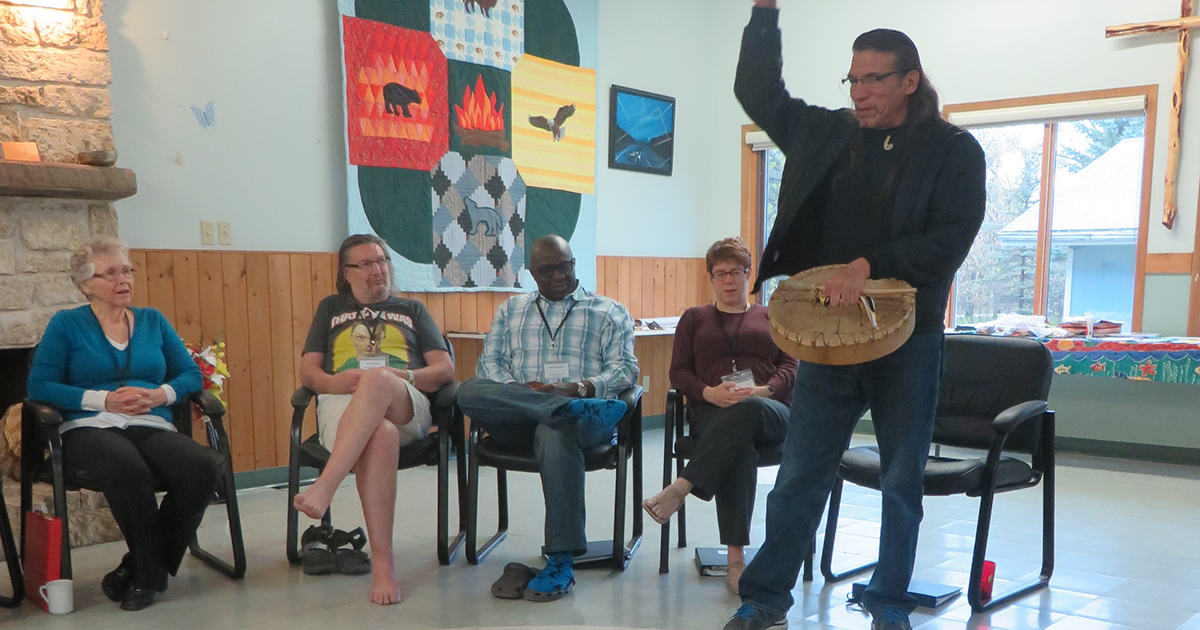 Participants attend the Deepening Understanding of Intercultural Ministry (DUIM) program at the Sandy Saulteaux Spiritual Centre in Beausejour, Manitoba. The five-day program will take place in multiple locations across Canada in 2016 and 2017. Submitted photo