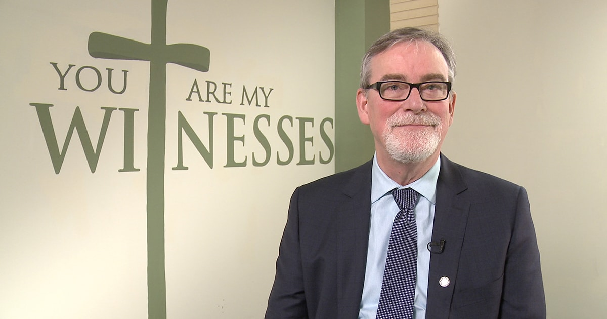 General Secretary Michael Thompson appears in a screenshot from the first in a series of orientation videos that will be released on the first and 15th day of each month leading up to General Synod 2016.