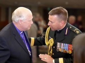 Bishop Nigel Shaw and Chaplain General, BGen Guy Chapdelaine.