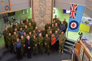 Bishop Peter Coffin and Colonel Nigel Shaw visiting Air Force Chaplains in Winnipeg.