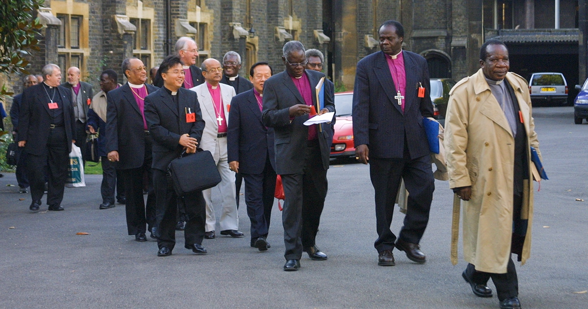 Primates of the Anglican Communion attend the 2003 Primates Meeting at Lambeth Palace in England. Photo from Anglican Communion Archives