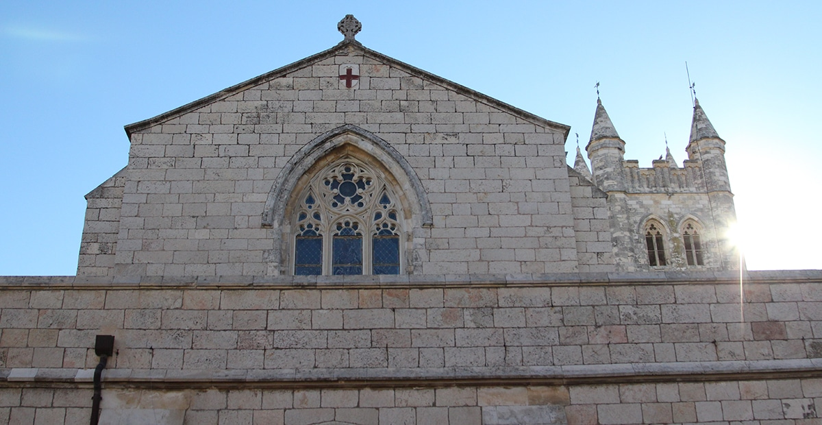 The Cathedral Church of St. George the Martyr in Jerusalem.