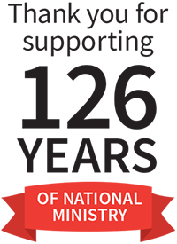 Thank you for supporting 126 years of National Ministry
