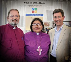 Bishop's Mark MacDonald, Lydia Mamakwa & Stephen Andrews