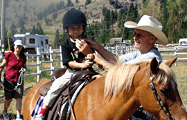 Ranch House kids enjoy a day of horseback riding