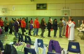 Participants at the healing gathering celebrate the Eucharist