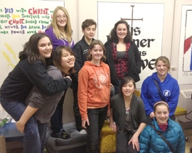 Members of St. George's Dragon Slayers youth group