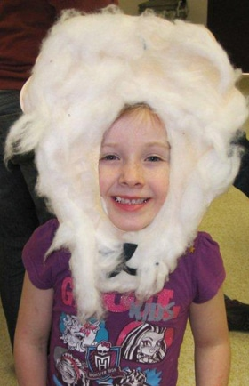A young girl in Grande Prairie, enjoying Messy Church