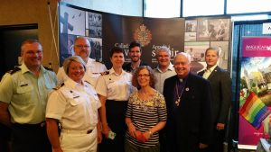 Bishop Nigel Shaw and the AMO Ordinariate's representatives to General Synod 2016.