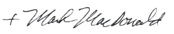 Bishop Mark signature