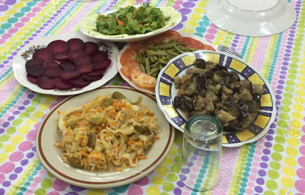 Vegetable platter at Parroquia San Fracisco de Asis.