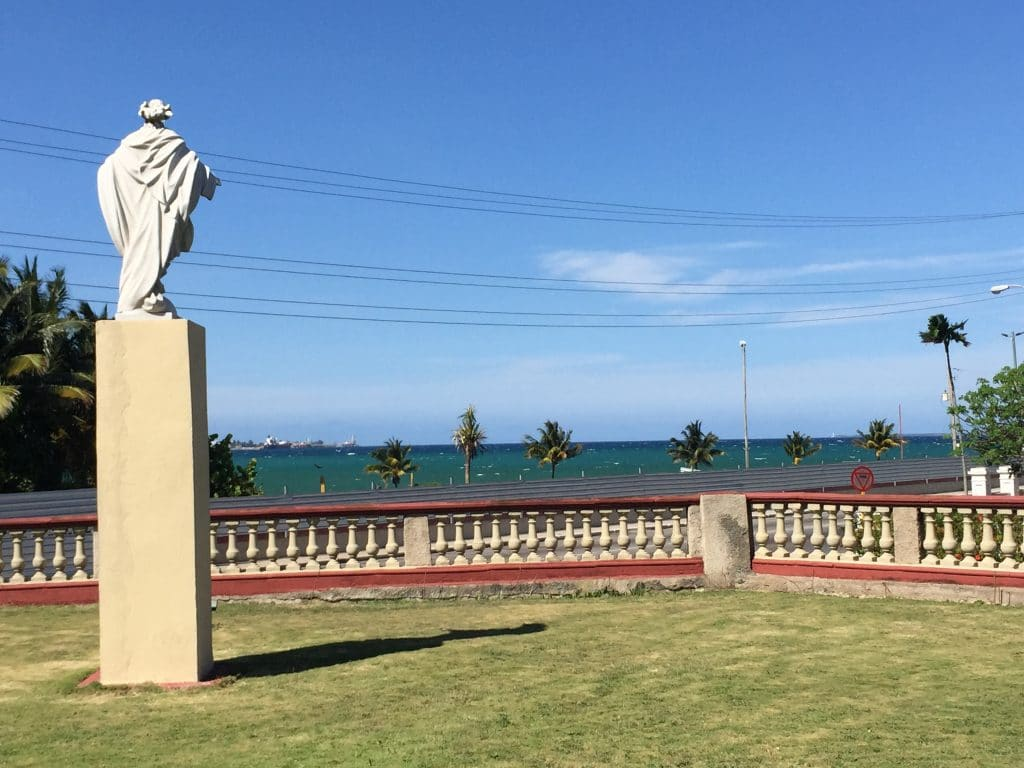 Jesus statue in front of the Matanzas Retreat Centre in Cuba. Photo by Matt Gardner