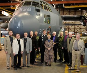 Local Anglican Clergy visit 17 Wing Winnipeg with Bishop Coffin Bishop Phillips