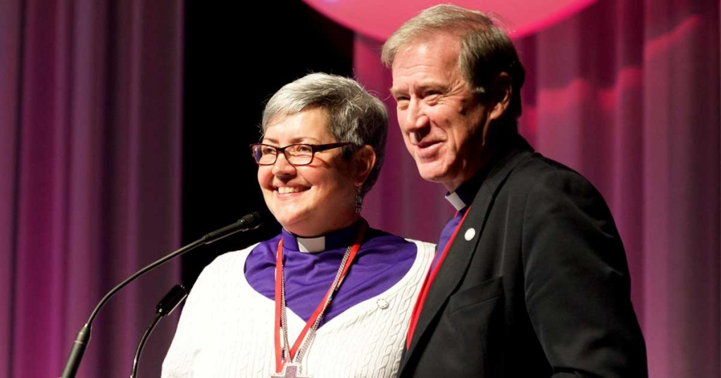 Archbishop Fred Hiltz and Bishop Susan Johnson. Photo: Brian Bukowski