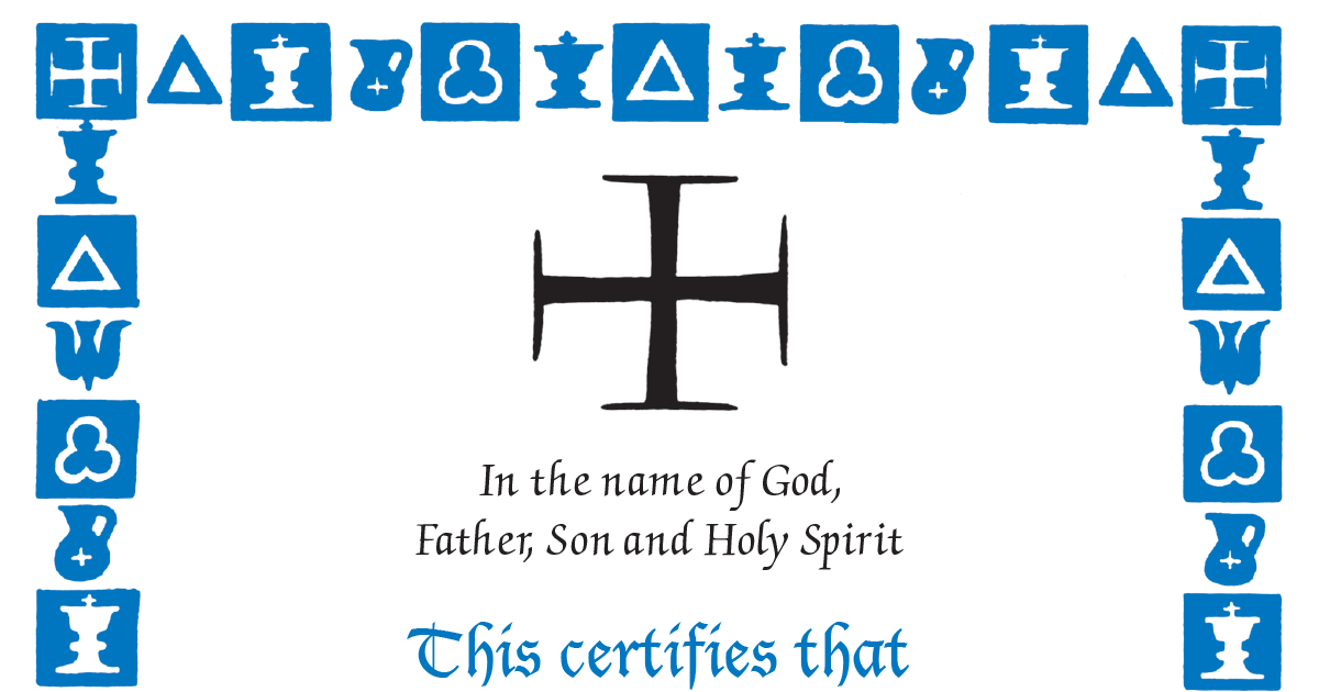 Fillable Baptism And Sponsor Certificates The Anglican Church Of