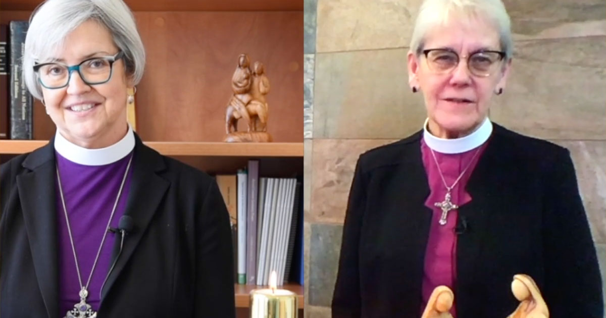 Photo of the ELCIC National Bishop and the Primate of the Anglican Church of Canada