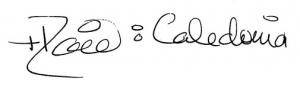 [Bishop David of Caledonia's signature]