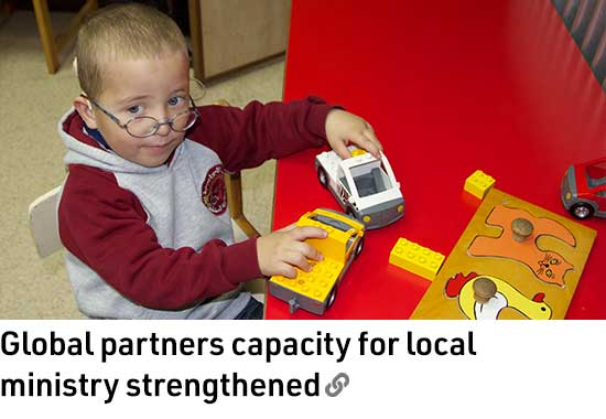 Global partners capacity for local ministry strengthened
